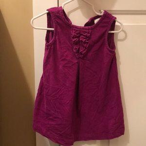 Purple corduroy jumper